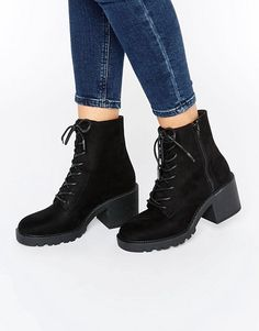 Discover women's ankle and shoe boots at ASOS. Browse our stylish collection of heeled and flat ankle boots, and find your staple pair. Order now at ASOS. Black Lace Up Boots, Lace Up High Heels, Black Ankle Booties, Lace Up Ankle Boots, Shoes Heels Wedges, Women's Shoes, Cute Boots, Pretty Shoes, Bootie Boots