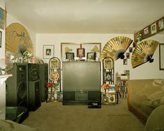 Edith Amituanai, The Sagato Residence, from the series North To The Future,C-type photograph Space Photos, Documentary Photography, Artistic Photography, Auckland, Liquor Cabinet, Home Appliances, Televisions, Trotter, Interiors