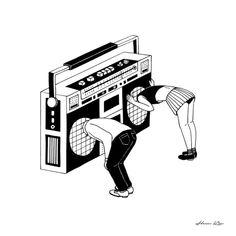 KONING — Black and white surreal illustrations by Henn Kim