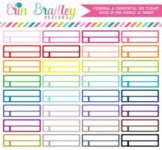 Reminder Boxes Clipart – Erin Bradley/Ink Obsession Designs