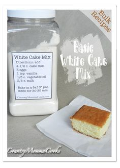 Bulk White Cake  mix Recipe @CountryMommaCooks