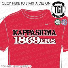 TGI Greek- Kappa Sigma- Greek Apparel #KappaSigma #KSig #intramurals