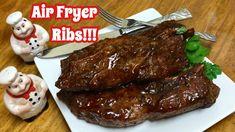 Air Fryer Recipes Pork, Air Frier Recipes, Air Fryer Dinner Recipes, Pork Rib Recipes, Boneless Country Style Ribs, Country Ribs, Boneless Beef Ribs, Nuwave Air Fryer