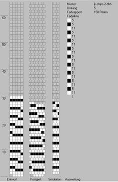 Schlauchketten häkeln - Musterbibliothek: stripes2_jk