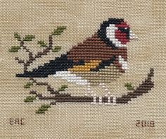 Garden Grumbles and Cross Stitch Fumbles: Goldfinches