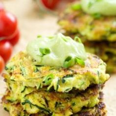 Zucchini Fritters with Avocado Crema Recipe - ZipList