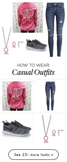 """Casual and comfy"" by stupidfatso on Polyvore featuring H&M and NIKE"