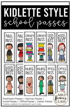 This pack includes 30 different school passes! Hall pass, washroom pass, library pass, office pass, and nurse pass, each featuring several options for your preference. #backtoschool #classroomsetup #hallpass #kindergarten #1stgrade #2ndgrade First Grade Classroom, Primary Classroom, Classroom Setup, Classroom Organization, Fun Learning, Learning Activities, Teaching Ideas, 1st Grade Activities, Back To School Activities