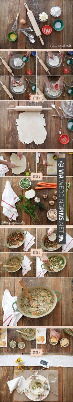 DIY Homemade Chicken Pot Pie Recipe | CHECK OUT MORE IDEAS AT WEDDINGPINS.NET | #weddingfavors