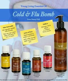 Essential oils for Cold and flu bomb