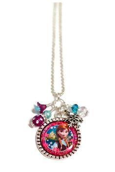 FROZEN'S Princess ANNA Necklace by BeyondCuteBoutique on Etsy // Elsa Olaf Kristoff Disney birthday party favors gift ideas keepsake