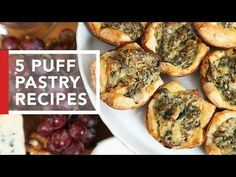 Un viandante in cucina: 5 Puff Pastry Recipes Puff Pastry Appetizers, Appetizer Recipes, Puff Pastries, Appetizer Ideas, Quick And Easy Appetizers, Quick Easy Meals, Quick Recipes, Over The Top, Recipes Using Puff Pastry