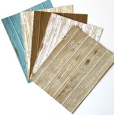 Many Colored Pinewood Planks Embossing Folder - What color do you prefer?
