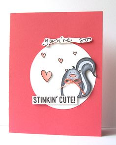 Just a fun cute card I made with @Simon Says Stamp Stinkin' Cute stamp set.