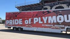Look how gorgous the new wrap on our Pride of Plymouth PHS equipmemt semi for band looks! 👏👍💯 The PHS Band Boosters paid for the wrap! Thank you to so many who helped make this project a reality. #PCSCweCARE