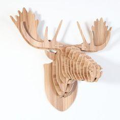 Herten hoofd decoratie voor muur