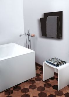 The Magazine Bath Towel warmer has space to heat two bath towels. In summer it can be used as a magazine rack. https://srijanexportstowelwarmers.co.uk/