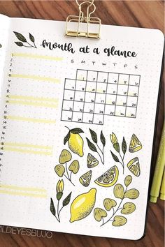 Best Lemon Themed Bullet Journal Spread For 2020 - Crazy Laura If you're the type that likes to keep a consitant theme for all your layouts in a month, then these lemon bullet journal spread ideas will come in handy! Bullet Journal Mood Tracker, Planner Bullet Journal, Bullet Journal Monthly Spread, Bullet Journal Notebook, Bullet Journal Aesthetic, Bullet Journal Themes, Bullet Journal Layout, Bujo Planner, Fernando Lopez