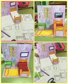 Best 12 This would be a good technique to introduce for a major project concerning the art of design. – Art DECO Design Eames Good Introduce learning major project specifically technique – DiyForYou Paper Doll House, Paper Dolls, Desenhos Van Gogh, Van Gogh Arte, Arte Elemental, Paper Art, Paper Crafts, Pop Up Art, Ecole Art