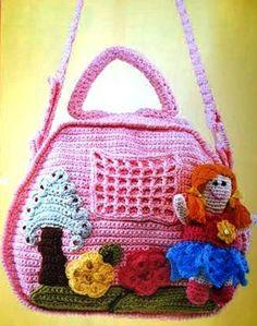 bolsas crochet | Tópico: Bolsa em crochet para menina
