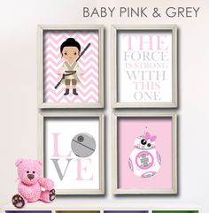 Baby Girl Star Wars Nursery Art Girl Room Decor door LilyLeilaRose