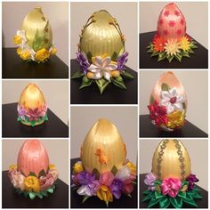 Easter Projects, Easter Crafts, Fairytale Art, Ribbon Art, Egg Art, Holidays And Events, Quilling, Easter Eggs, Sculptures