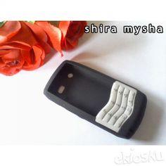Jual Silikon Soft Case BLACKBERRY PEARL 9100 9105 Full Keypad | HITAM | Shira Shop