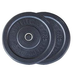 TDS 20lb Virgin Rubber Bumper Plate Set Consists of 2-10lb Without Steel Plates Inside Designed for Crossfit Workout and Fitness Training.