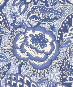 Liberty Furnishing Fabrics China Blue Patricia Anne Wallpaper   Home   Liberty.co.uk