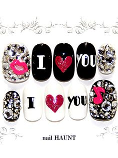 SHAGADELIC - I love you Rock #nail #kawaii