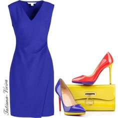 A fashion look from January 2015 featuring Diane Von Furstenberg dresses and Christian Louboutin pumps. Browse and shop related looks.