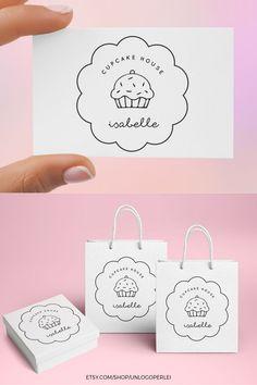Logo Cookies, Cupcake Logo, Cupcake Bakery, Cake Logo Design, Logo Desing, Baking Logo Design, Food Logo Design, Design Design, Design Trends
