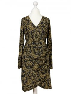 Damen Jerseykleid, schwarz multicolor von www.meinkleidchen.de