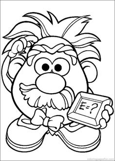 Mr. Potato Head Coloring Pages 32 This was the center of our bubble map(Thinking Map)for our potato observation. Students had to write words to describe their potato, mass, length, color,etc.