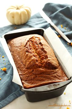 This Best Ever Pumpkin Spice Bread is moist and flavourful and packed with pumpkin and spices, and it's so easy to make in only one bowl! Recipe from thebusybaker.ca! #fallpumpkinrecipe #besteverpumpkinloaf #besteverpumpkinrecipe #easypumpkinrecipe