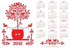free printable 2012 calendars.  makes a cute inexpensive gift!