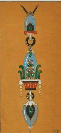 C-0224 - Cartier Pendent, Egyptian style, Art Deco