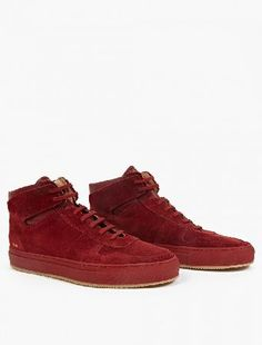 Common Projects Suede Hi-Top Baseball Sneakers The Common Projects Suede Hi-Top Baseball Sneakers