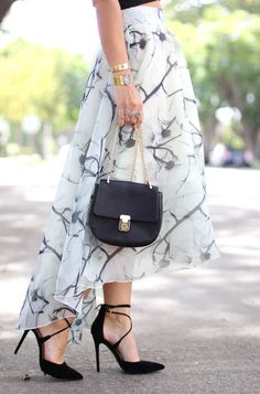 Gray High Low Skirt - Carrie Bradshaw Lied