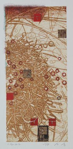 painting, collage on original printed paper   HAYASHI Takahiko 2012 Japan