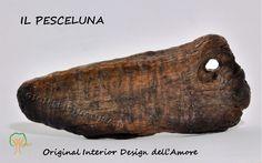 (#driftwood, bois flotté). Il PesceLunaWoodys©  Simbolo dell'AMORE. Leggi la storia.