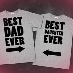 Best Dad Ever / Best Daughter Ever / Best Mom Ever / Fathers And Mothers Day Gifts. i needed this for my daddy and daughter road trip Dad And Daughter Gifts, Dad Daughter, Daddy Gifts, Parent Gifts, Daughters, Presents For Dad, Gifts For Dad, Daddy Day, Father's Day Diy