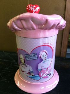 I Love Lucy Cookie Jar Pink