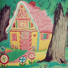 Fairy Tale Scrapbook, Search results for: hansel and gretel Hansel And Gretel House, Hansel Y Gretel, Fairytale Cottage, Fairytale Art, Gingerbread House Candy, Candy House, Children's Book Illustration, Christmas Colors, Candyland