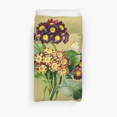 'Pretty flowers' Duvet Cover by Duvet Cover Design, College Dorm Bedding, Duvet Insert, Pretty Flowers, Floral Tie, Duvet Covers, My Arts, Art Prints, Printed
