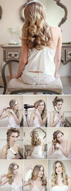 How To Make a Romantic Waves Bridal For Your Hair