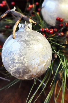 Handmade Mercury Glass Ornaments