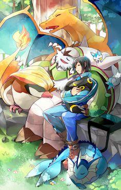 Calme and Pokemon :3