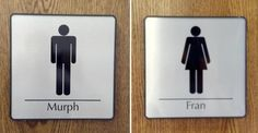 How's this for bathroom signs for your local CrossFit box? Needs to go in the suggestion box!
