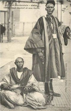 Wolof chief and his griot. Senegal